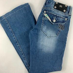 Miss Me Jeans Womens Sz 27 Wide Leg Boot Cut